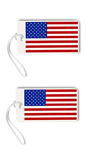 American Flag Luggage Tags