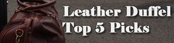 Top Leather Duffle Bag for Men