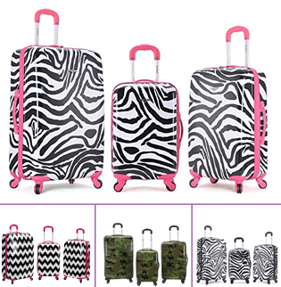 unique rockland luggage set