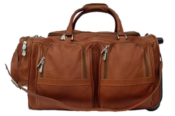 best leather duffle on wheels