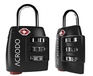 Acrodo tsa luggage lock