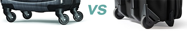 spinner vs inline wheel luggage