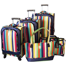 5 piece unique luggage sets