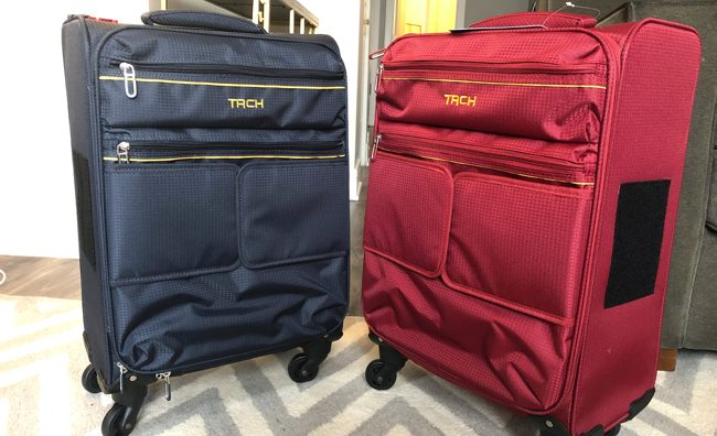 tach luggage soft side carryon